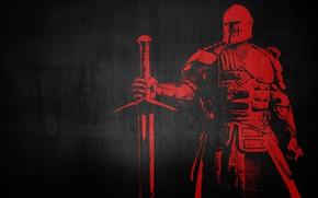 Картинка меч, доспехи, воин, рыцарь