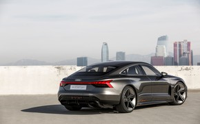 Картинка Audi, купе, тень, 2018, e-tron GT Concept, четырёхдверное
