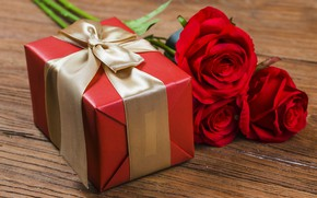 Картинка любовь, цветы, подарок, розы, red, love, romantic, valentine's day, gift, roses