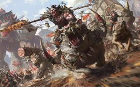 Картинка орки, Artwork, Stanton Feng, Desert Half-Orcs, Rise of The Horde Sarnuk bloodsoul