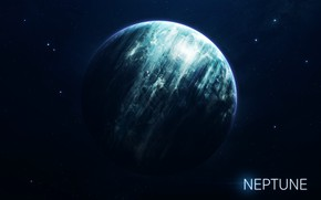 Картинка Звезды, Планета, Космос, Ягоды, Нептун, Арт, Stars, Space, Art, Planet, Система, Neptune, Berries, System, Солнечная …