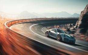 Картинка скорость, 911, Porsche, 2018, GT2 RS