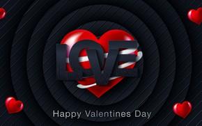 Картинка красный, день валентина, фон, hearts, любовь, текстура, love, синий