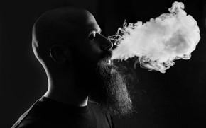 Картинка smoke, beard, peeling