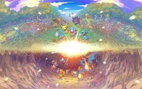 Картинка сияние, игра, покемоны, Pokémon Mystery Dungeon: Rescue Team DX