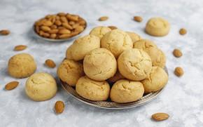 Картинка печенье, орехи, выпечка, миндаль