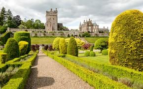 Картинка замок, стены, сад, Шотландия, крепость, Scotland, Drummond Gardens and Castle