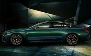 Картинка купе, BMW, вид сбоку, First Edition, 2020, 2019, M8, четырёхдверное, M8 Gran Coupe, F93