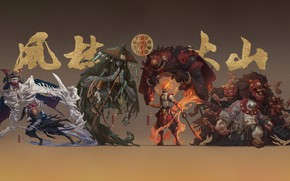 Картинка Монстры, Япония, Монстр, Доспехи, Стиль, Воин, Japan, Spirit, Воины, Ghost, Monster, Арт, Art, Style, Warrior, …