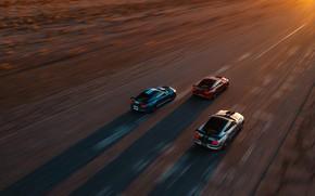 Картинка скорость, Mustang, Ford, Shelby, GT500, вид сверху, 2019