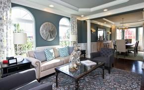 Картинка дизайн, стиль, интерьер, гостиная, столовая
