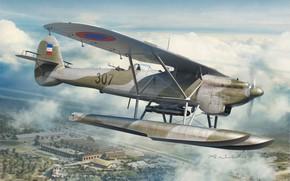 Картинка Великобритания, бомбардировщик, Югославия, торпедоносец, гидросамолет, Raf, Arkadiusz Wrobel, самолет-разведчик, Dornier Do-22