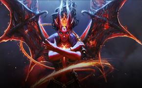 Картинка демон, Horns, DotA 2, Queen Of Pain