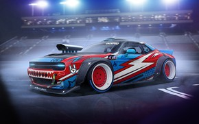 Картинка Авто, Машина, Dodge, Challenger, Арт, Dodge Challenger, Рендеринг, Dmitry Strukov, Dizepro, by Dmitry Strukov, Drift …