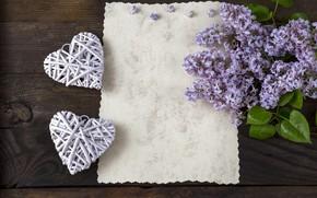 Картинка сердце, heart, flowers, сирень, romantic, lilac