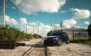 Картинка Land Rover, Range Rover, Sky, Blue, Railway, Sport