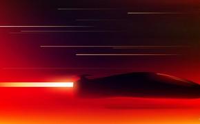 Картинка Рисунок, Музыка, Неон, Машина, Фон, Art, Neon, Concept Art, Odysseus, Science Fiction, Bleed, Retrowave, Synthwave, …