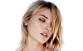 Картинка взгляд, модель, волосы, портрет, макияж, прическа, model, hair, look, Victoria's Secret, portrait, makeup, Марта Хант, …