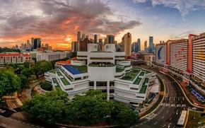 Картинка город, здания, Сингапур, Singapore