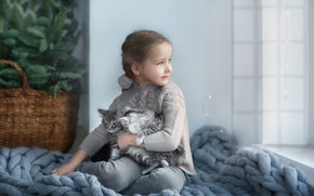 Картинка котята, Девочка, фотограф Анастасия Бармина