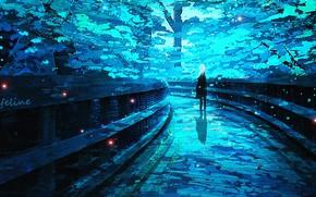 Картинка девушка, мост, природа, Lifeline