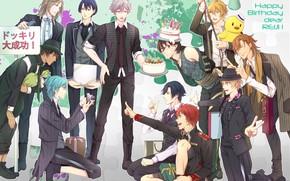 Картинка аниме, арт, парни, Поющий принц, Uta no prince
