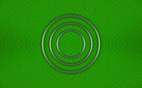 Картинка круги, зеленый, фон, текстура