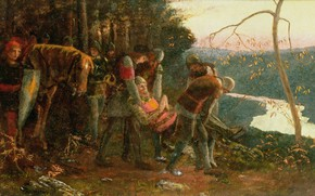 Картинка Артур Хьюз, первая версия, Рыцарь Солнца