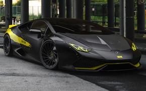 Картинка Авто, Черный, Lamborghini, Машина, Car, Auto, Black, Суперкар, Supercar, Спорткар, Sportcar, Huracan, Lamborghini Huracan, Transport …