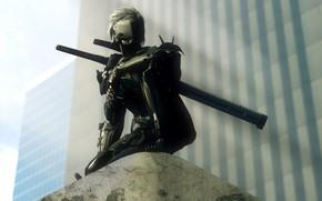 Картинка Snake, ninja, raiden, Metal Gear Rising: Revengeance, cyborg, mgs, jack the ripper, mgr, White Devil