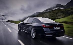 Картинка BMW, седан, мокрый асфальт, G12, 2020, 7er, 7-series, 2019, 745Le xDrive