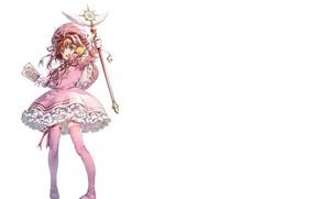 Картинка улыбка, девочка, Card Captor Sakura, Сакура - собирательница карт