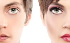 Картинка girl, green eyes, men
