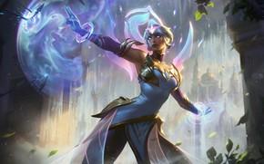 Картинка девушка, магия, Karma, League Of Legends