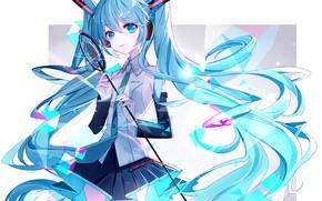 Картинка фон, Hatsune Miku, Vocaloid, Вокалоид, Хатсуне Мику