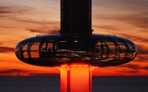 Картинка Англия, башня, Брайтон, смотровая площадка, British Airways i360