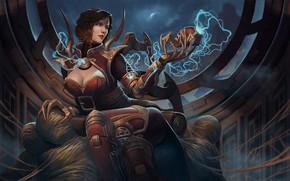 Картинка девушка, паук, League of Legends, чёрная вдова, Elise