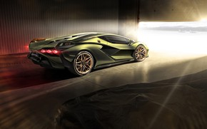 Картинка свет, Lamborghini, суперкар, гибридный, Sián