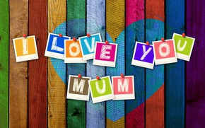 Картинка надпись, доски, сердечко, мама, День Матери