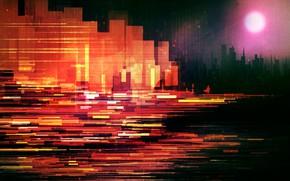 Картинка City, Fantasy, Sun, Line, Ruby, Scott Uminga, by Scott Uminga, The Ruby