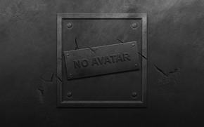 Обои металл, трещины, стена, табличка, пятна, no avatar