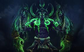 Картинка Игра, Illidan, Демон, WOW, Stormrage, Warcraft, Blizzard, Art, Night Elf, World of WarCraft, Demon Hunter, …
