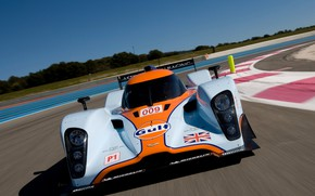 Картинка Aston Martin, Скорость, Фары, 2011, LMP1, 24 Hours of Le Mans, 24 часа Ле-Мана, Sports …