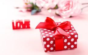 Картинка любовь, подарок, розы, день святого валентина