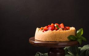 Картинка ягоды, клубника, торт