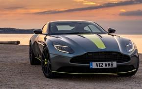 Картинка закат, Aston Martin, вид спереди, 2018, DB11, AMR, Signature Edition