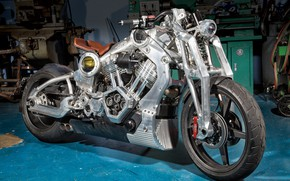 Картинка мотоцикл, байк, motorcycle, superbike, Confederate P51, Confederate Combat