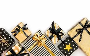 Картинка лента, подарки, Праздник, коробки, упаковка