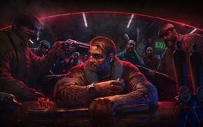 Картинка пистолет, бандиты, мужики, биты, мафия, Kingpin: Reloaded