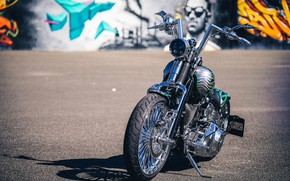 Картинка Harley Davidson, Harley-Davidson, Custom, Motorcycle, Thunderbike, By Thunderbike, Flamos